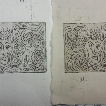 Zinc Etching Printmaking Penpal