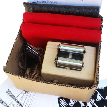 The Press in a Box kit is the most economical way to start pressing your intaglio, relief and monoprints.