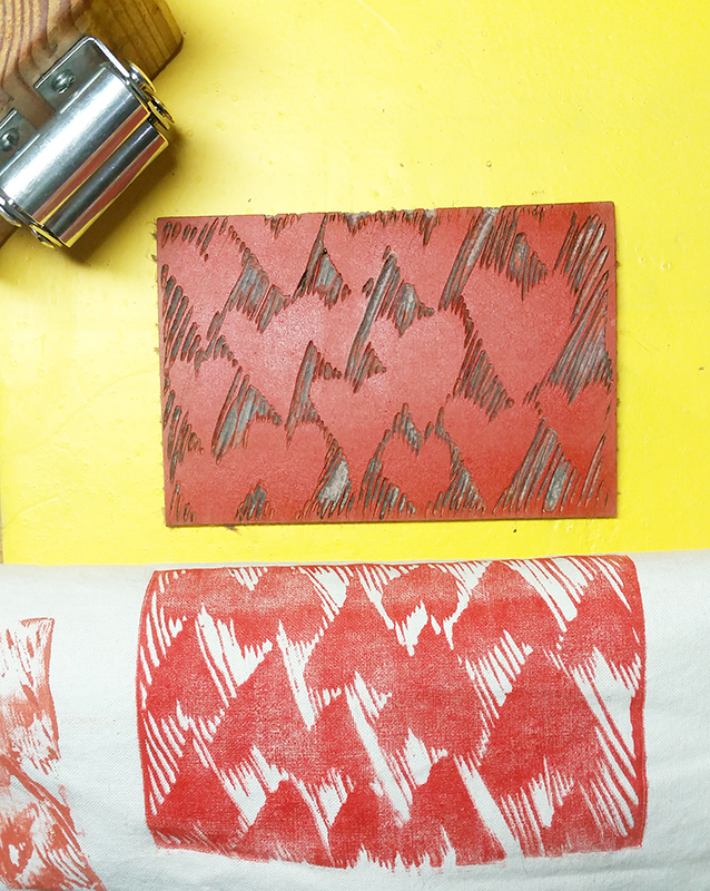printmaking on fabric