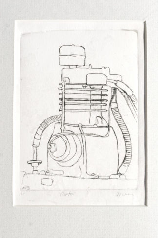 motor plexi drypoint etching