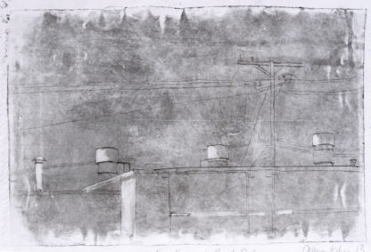 etching of los angeles rooftop