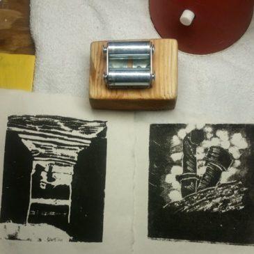 Styrofoam Printmaking with Pocket Press