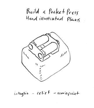 Handheld Etching Press printmaking press building plans